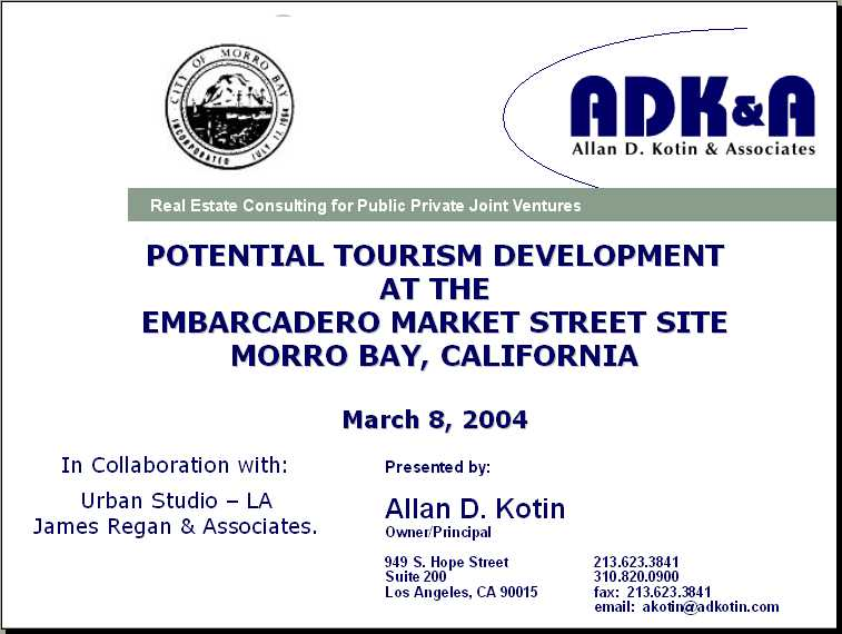 Cover Page to ADK Study Presented March 8