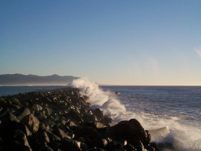 Watch the Waves Crash the Breakwater off Morro Rock